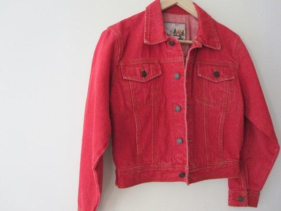 Lil Red - Vintage Red Trucker Denim Jacket