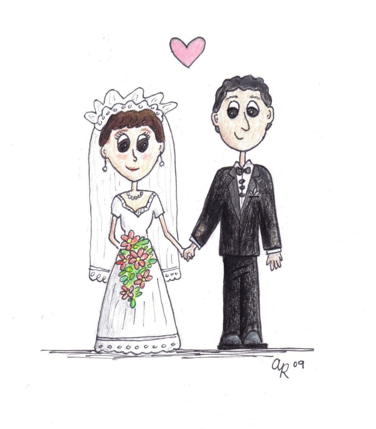 Custom Wedding Couple Cartoon