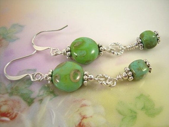 High Noon - Picasso Bead Earrings