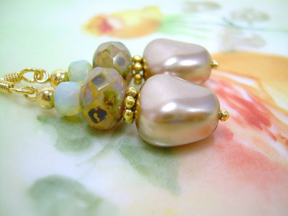 Desert Pearls - Baroque Pearl Earrings