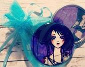 Black Sheep Gothic Fashion Girl Art Pocket Mirror