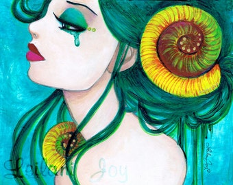 SALE: Tempest Mermaid Girl 11x14 Fine Art Print