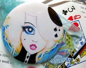 Pocket Mirror Alice in Wonderland Girl Art