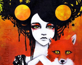 """8x17"""" Print: Fauna The Huntress Fine Art Print"""