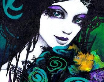 SALE: Flora the Goddess of Flowers Portrait Fine Art Print 11x14