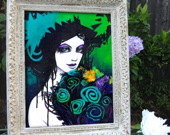 Flora the Goddess of Flowers Portrait Fine Art Print 8x10