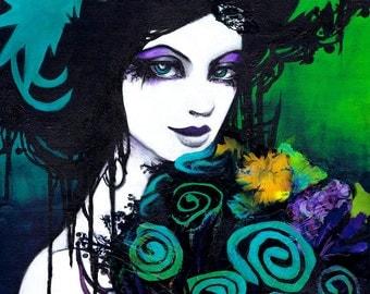 """8x17"""" Flora the Flower Goddess Fine Art Print"""