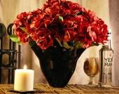 FINAL CLEARANCE, Midnight Black Blown Glass Statement Vase