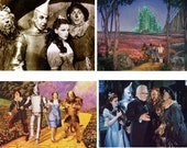 Lot Of 4 Wizard Of Oz Fabric Panel Quilt Squares