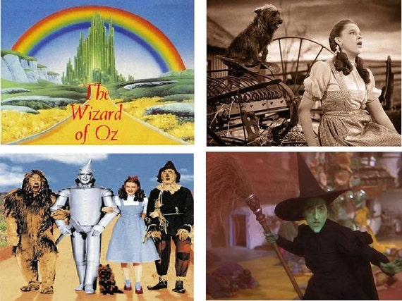 Lot Of 12 Wizard Of Oz Fabric Panel Quilt Square Blocks
