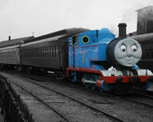 "Thomas the Tank Engine - Original Signed, Matted Photograph - 20""x30"" on Stretched Canvas"