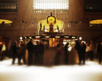 New York City Photography - The Gathering  -  Grand Central Terminal - 11x14 Print on Supra Endura Paper, matted to 16x20, ready to frame