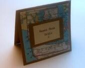 Custom Place Cards destination,  vintage map, set 10