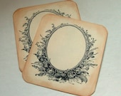 Vintage escort tags Victorian place cards sepia, set of 12