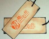 Hawaii gift tags, favor, rustic, Destination wedding,  vintage inspired, set 20