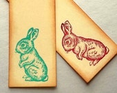 Easter bunny tags, rustic vintage, gift, hang, place cards, wish tags, Set of 12