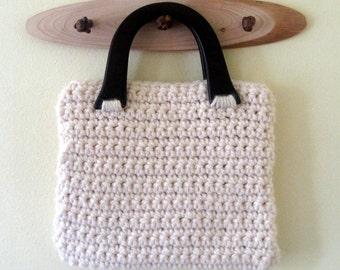 Ready to ship Crochet snow clutch