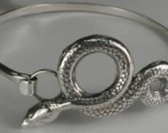 Sterling Silver Snake Bracelet Strap Style