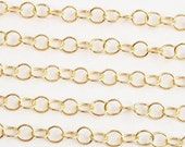 CH003-G // Gold Plated Round Chain, 3M