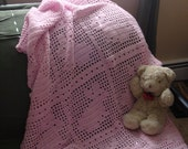 Pink Bunny Baby Blanket