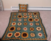 Sunflowers Afghan