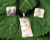 Silver Pendant and Post Earring Set