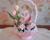 EASTER Handmade Vintage Style Nut Cup- Candy Cup - My Two Bunnies