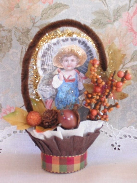 THANKSGIVING NUT CUP - CANDY CUP - VINTAGE STYLE - TABLE DECOR