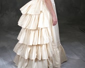 c. 1880 Victorian, Gilded Age Historic Bustle and Petticoat
