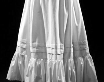 Peasant Petticoat, Long cotton costume skirt, all sizes, underskirt, overskirt, cosplay festival historic adjustable