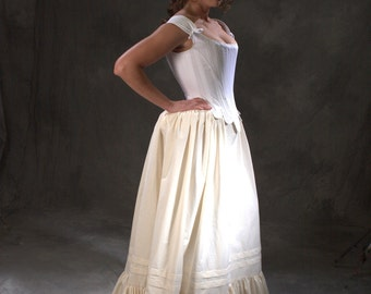 Cavalier Restoration Moliere c.1660 historic underwear ensemble, corset, stays, petticoat skirt, bum roll. made to measure