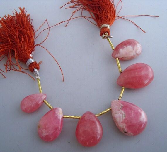 Rhodochrosite Gemstone Briolettes Qty 6
