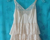 Tattered Bella Honey Cream Ruffle Fall Wedding Dress-- Ready to ship