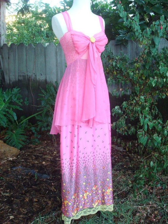 Floating Neon Fairy Maxi Dress