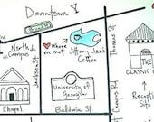 Custom wedding map deposit for katieslater13