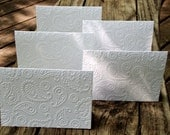 Paisley Embossed Note Cards