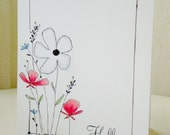 Floral Hello Greeting Card