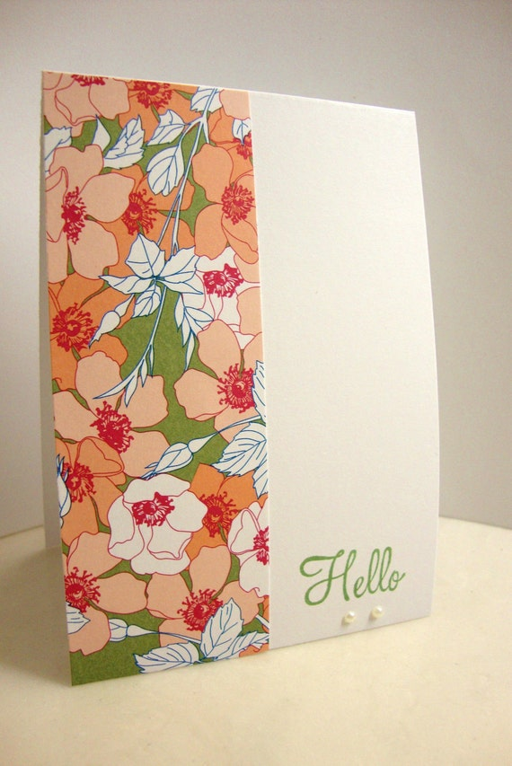 Funky Floral Note Card Set