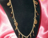 Vintage Brassy Black Necklace