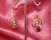 Petite Lampwork Bead Hoop Earrings