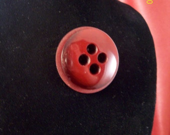 Vintage Cranberry Button Pin