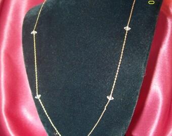 Vintage Aurora Borealis Crystal Bead Bridal Necklace
