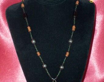 Vintage 70's Hippie Bead Necklace