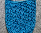 Bag - Crochet Shopping Bag - Market Bag - Cotton Yarn in Blue/Turquoise