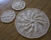 Knitted Table and Candle Mats