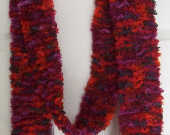 Small Long Red Scarf