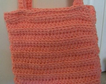 Purse - Crochet City Purse with Long Straps - Color Peach