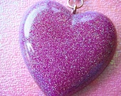 Hard Candy Heart (Purple) - Resin Necklace