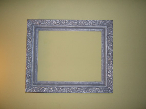 French Grey Gesso & Wood Antique Frame