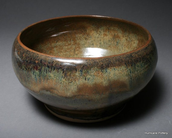Pottery Bowl Hand Thrown Natural Earth Tones Stoneware